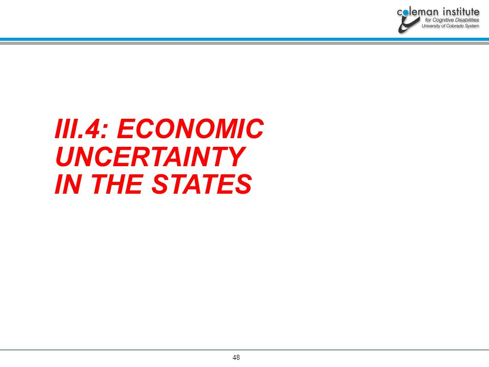 48 III.4: ECONOMIC UNCERTAINTY IN THE STATES