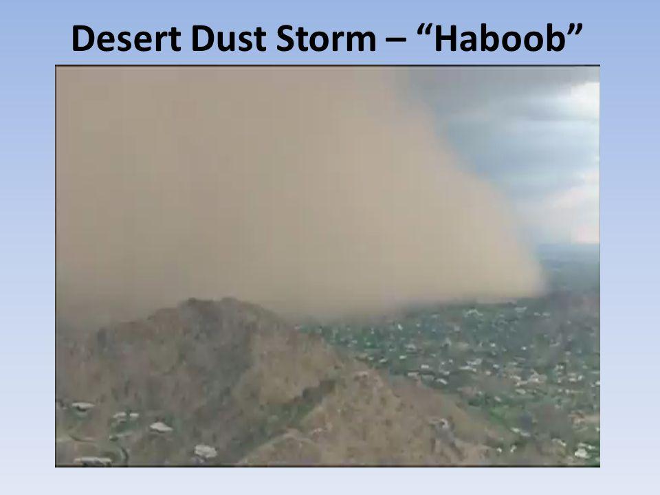 Desert Dust Storm – Haboob