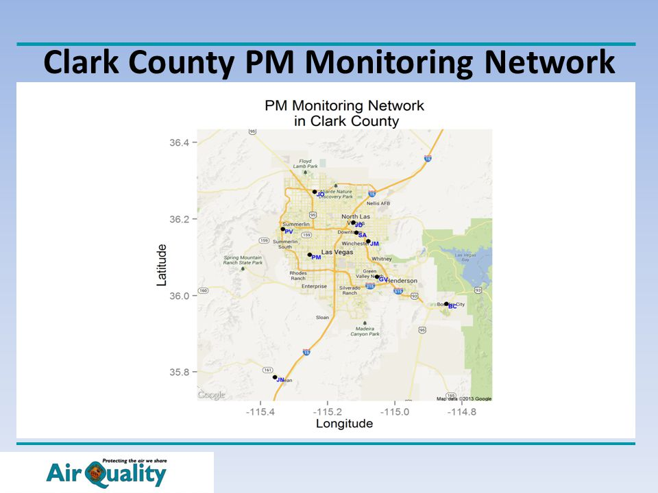 Clark County PM Monitoring Network
