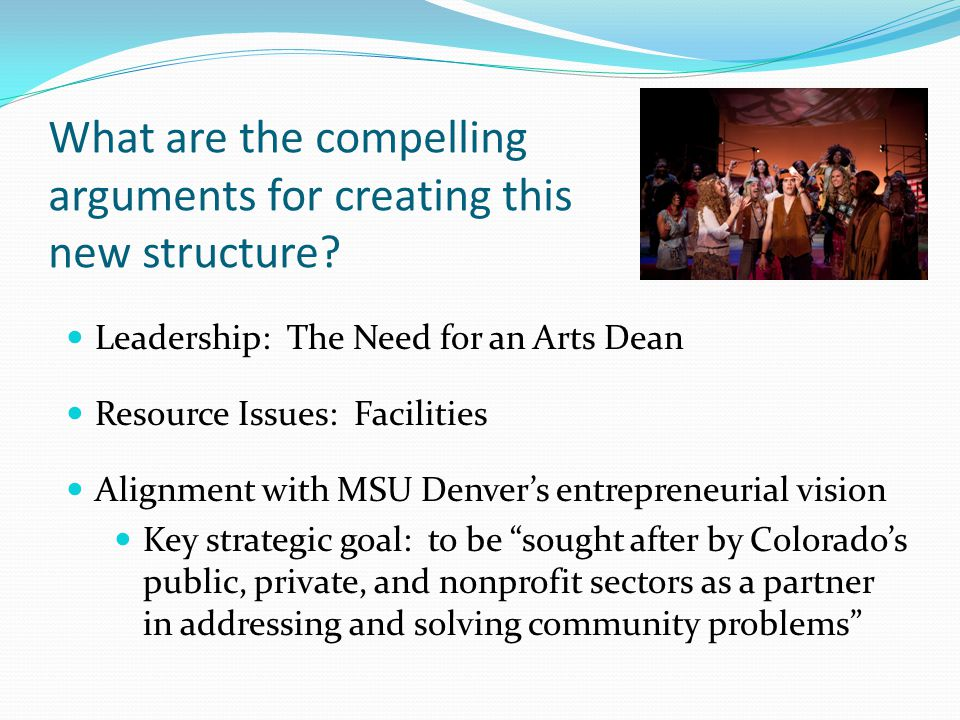 What are the compelling arguments for creating this new structure.