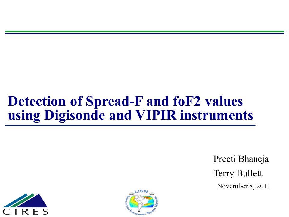 Index 2 Introduction Data Analysis – methodology Data Presentation Summary of ionosonde study at midlatitude regions.