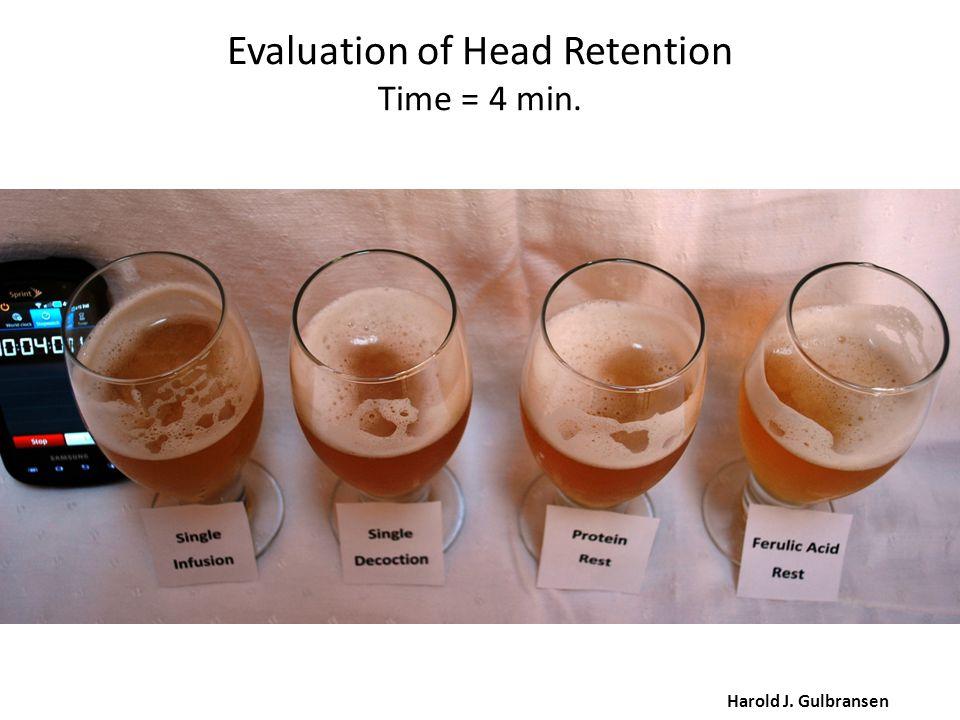 Evaluation of Head Retention Time = 4 min. Harold J. Gulbransen