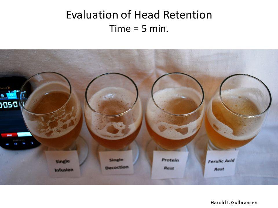 Evaluation of Head Retention Time = 5 min. Harold J. Gulbransen