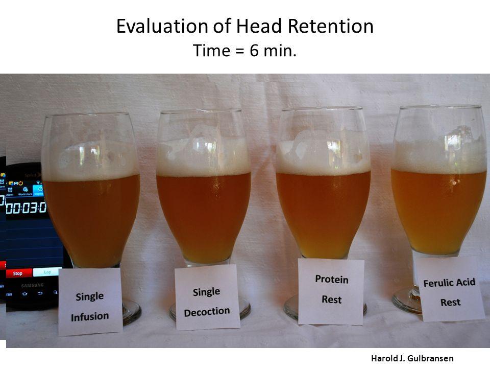 Evaluation of Head Retention Time = 6 min. Harold J. Gulbransen