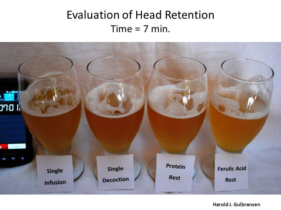Evaluation of Head Retention Time = 7 min. Harold J. Gulbransen