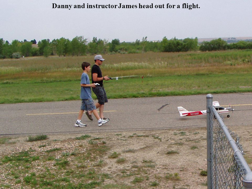 Danny fueling his plane for a flight. August 2012