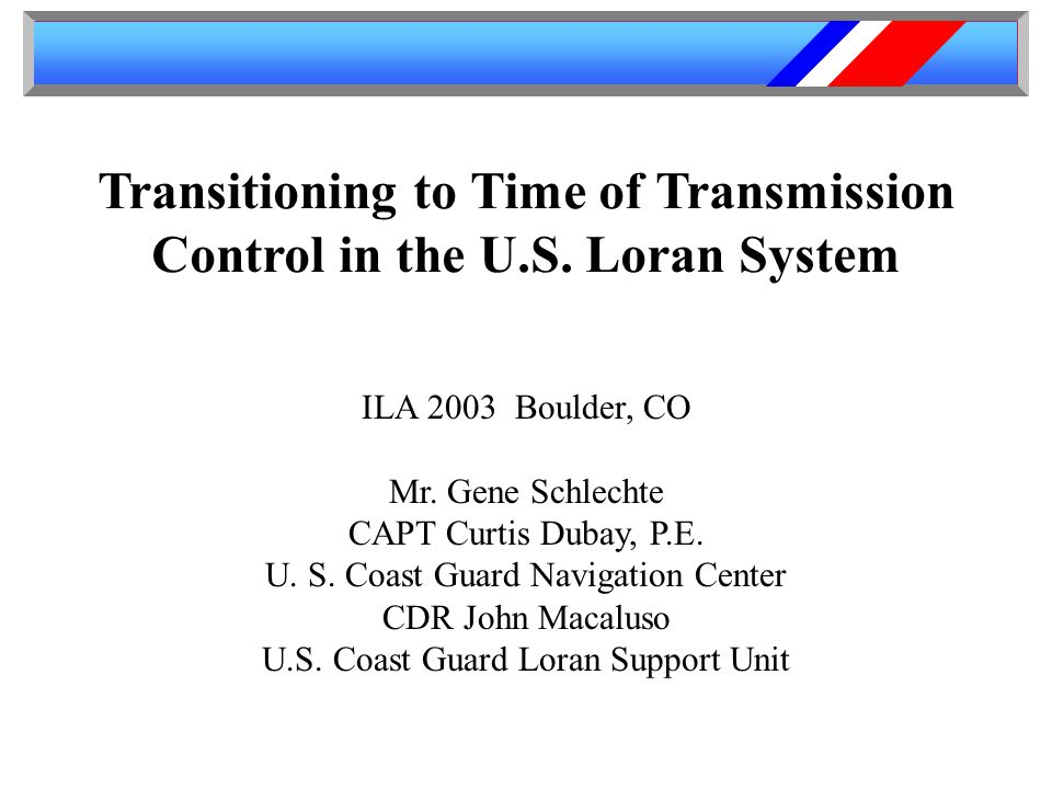 Transitioning to Time of Transmission Control in the U.S.