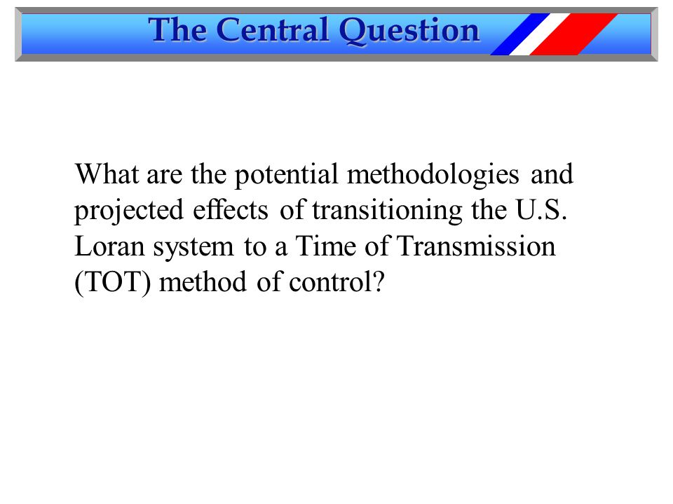 The Central Question What are the potential methodologies and projected effects of transitioning the U.S.