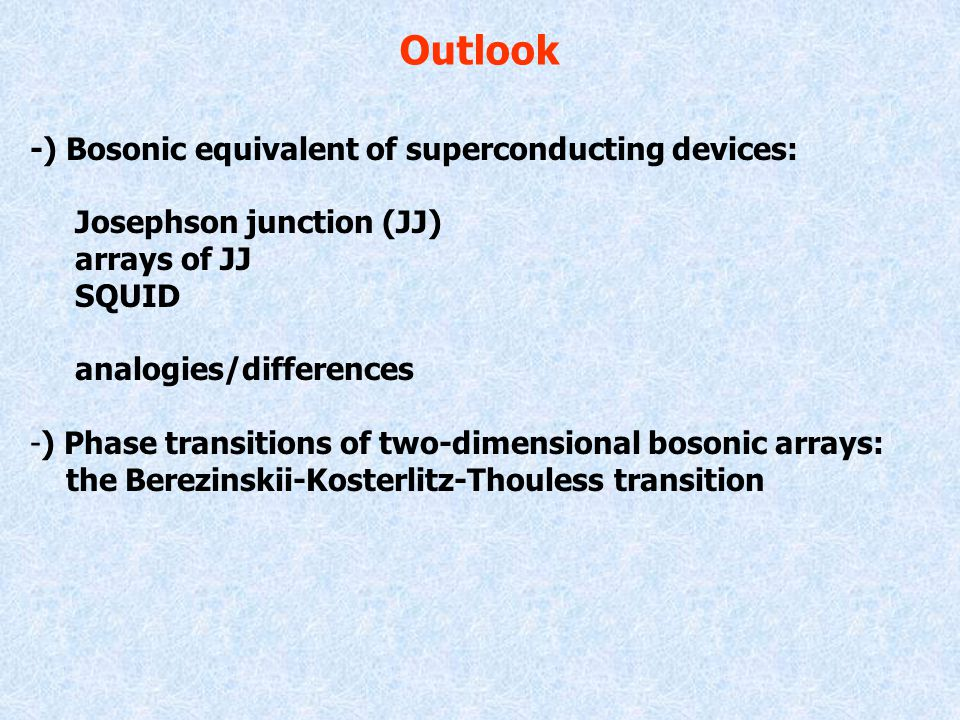 Some examples Bosons undergo Bose-Einstein condensation: they localize on the comb's backbone [R.