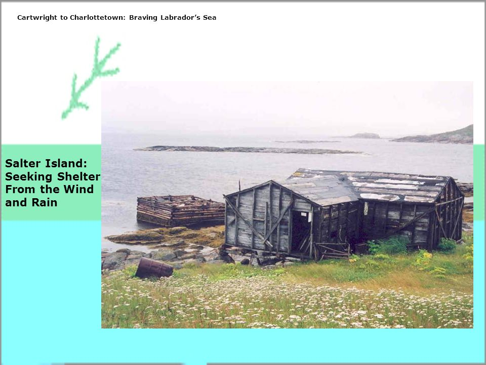 Salter Island: Seeking Shelter From the Wind and Rain Cartwright to Charlottetown: Braving Labrador's Sea