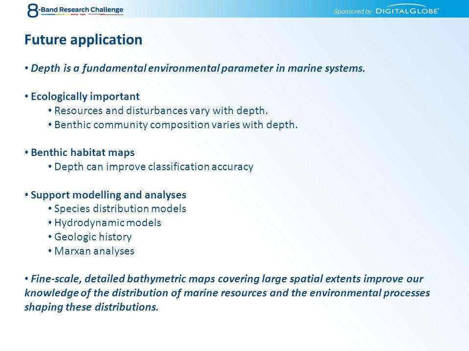 Depth is a fundamental environmental parameter in marine systems.