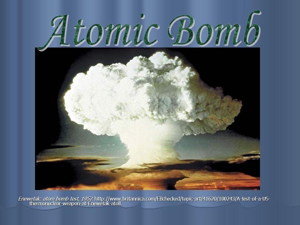 Enewetak: atom bomb test, 1952.