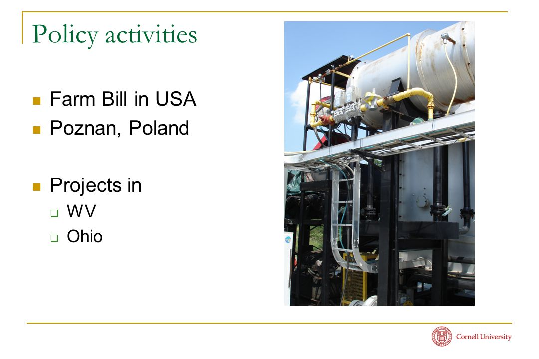 Policy activities Farm Bill in USA Poznan, Poland Projects in  WV  Ohio