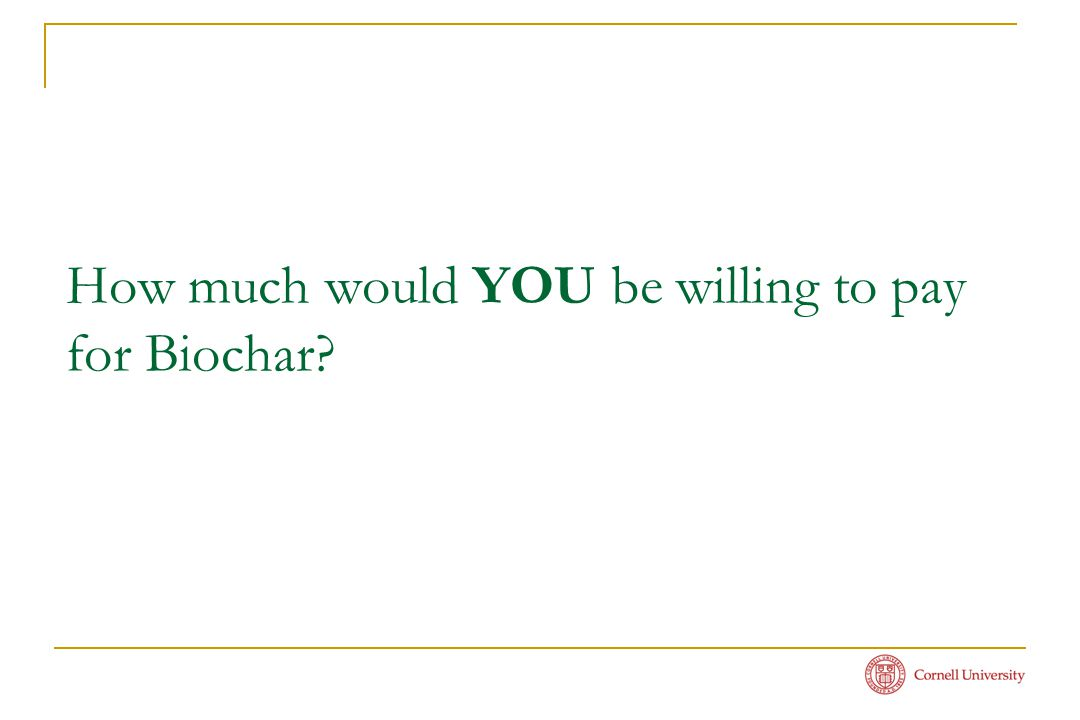How much would YOU be willing to pay for Biochar