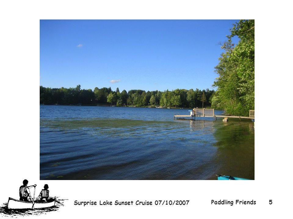 Surprise Lake Sunset Cruise 07/10/2007 Paddling Friends5
