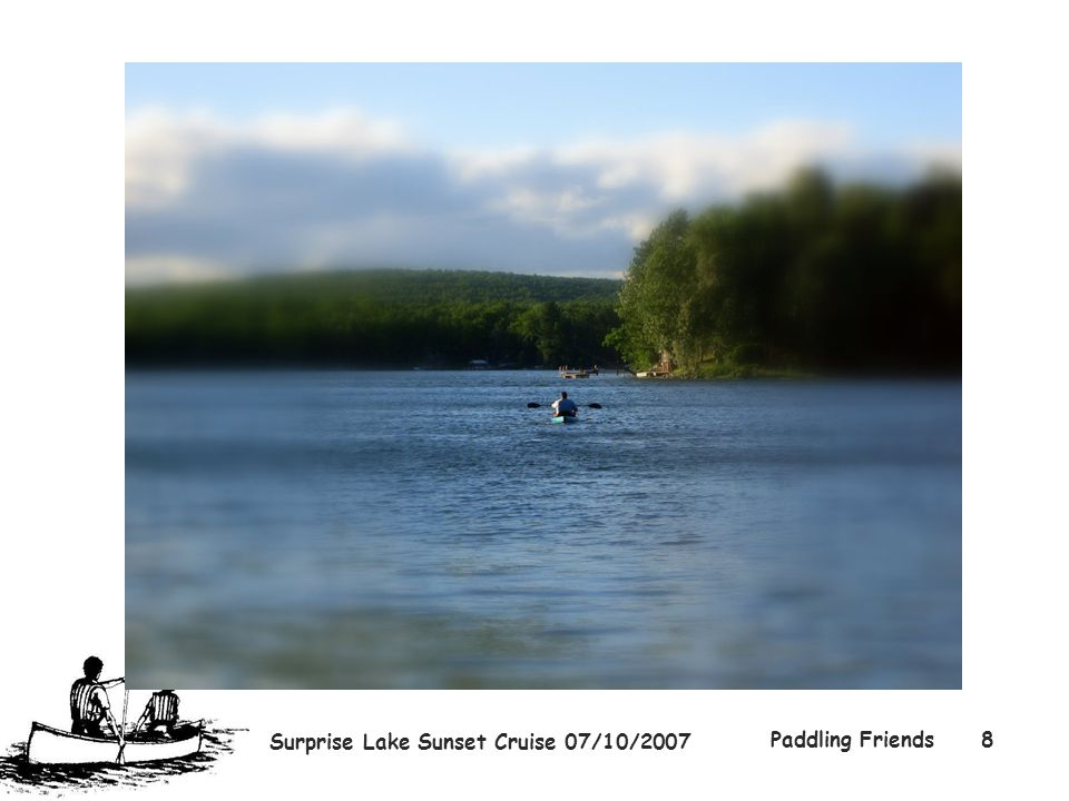 Surprise Lake Sunset Cruise 07/10/2007 Paddling Friends8