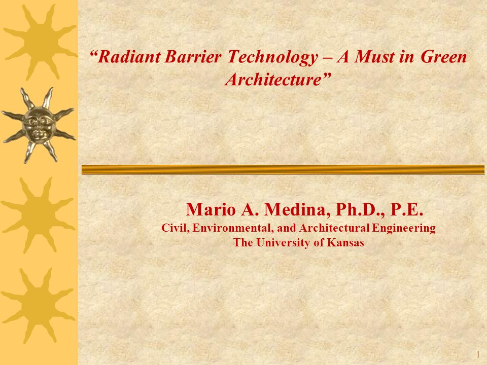Radiant Barriers  Parametric Analyses: Outdoor Air Temperature