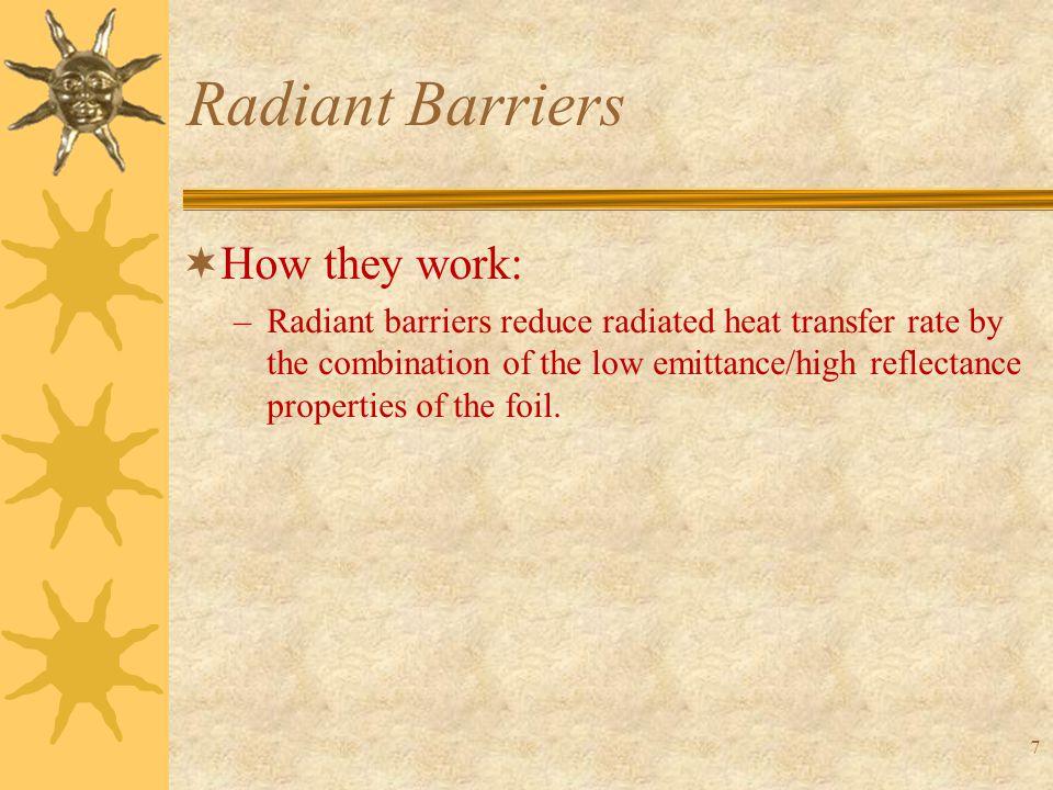 48 Radiant Barriers  Parametric Analyses: Radiant Barrier Emissivity