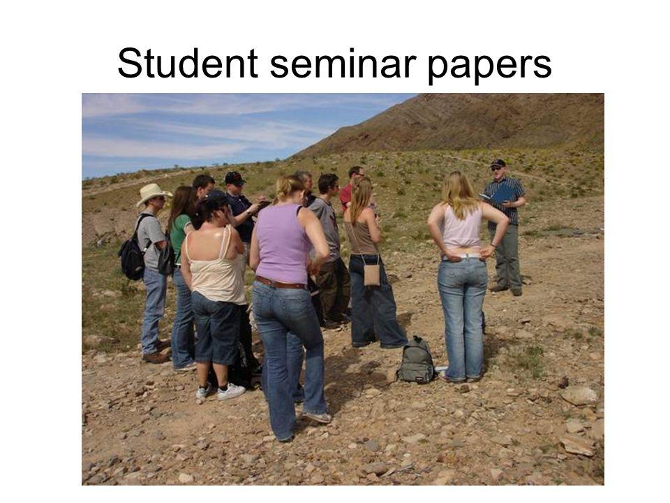 Student seminar papers