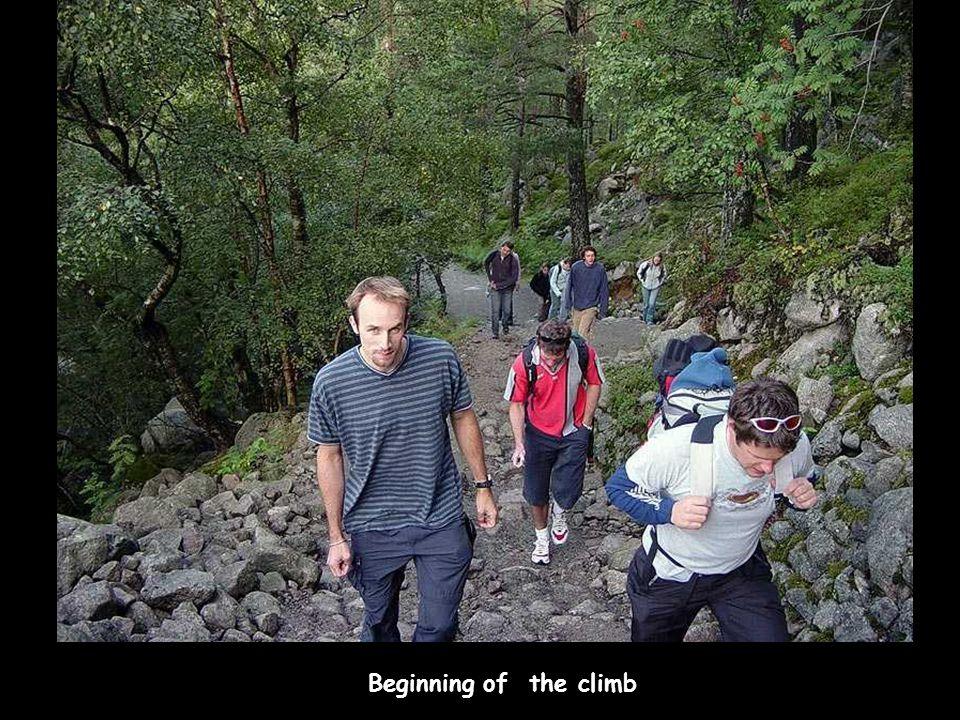 Beginning of the climb