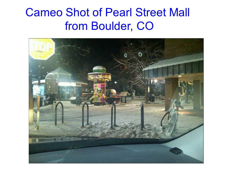 Cameo Shot of Pearl Street Mall from Boulder, CO