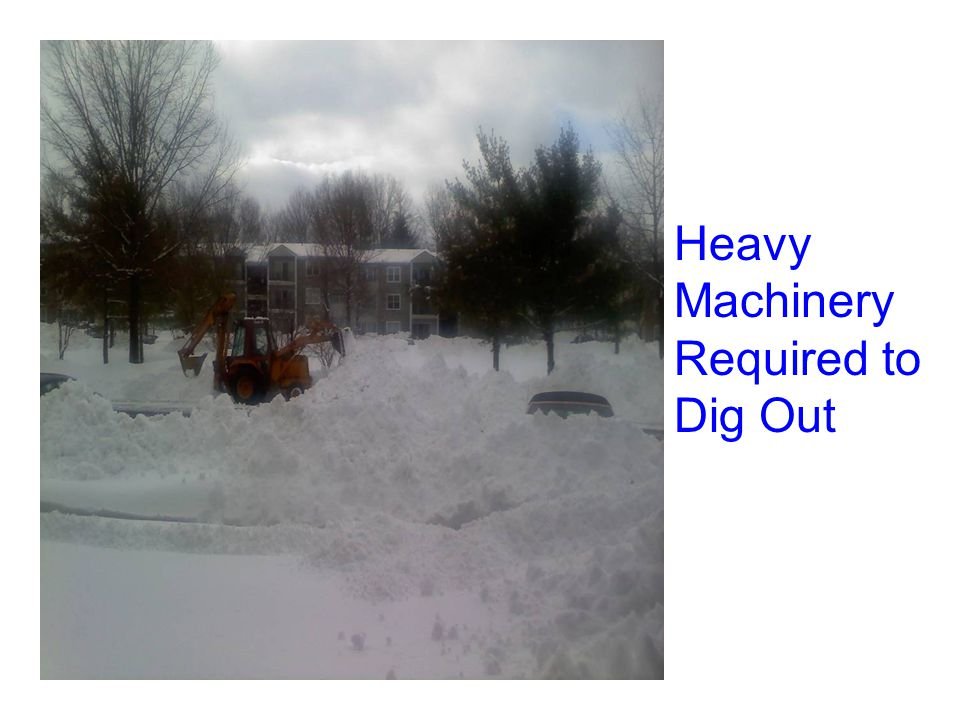 Heavy Machinery Required to Dig Out