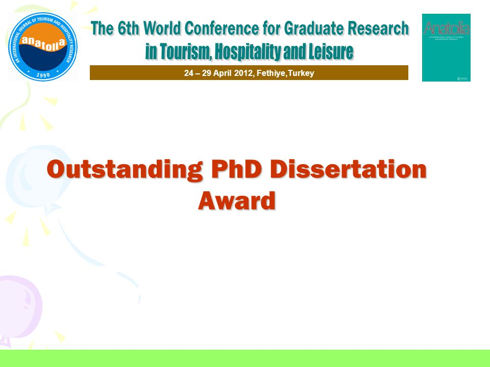 Outstanding PhD Dissertation Award