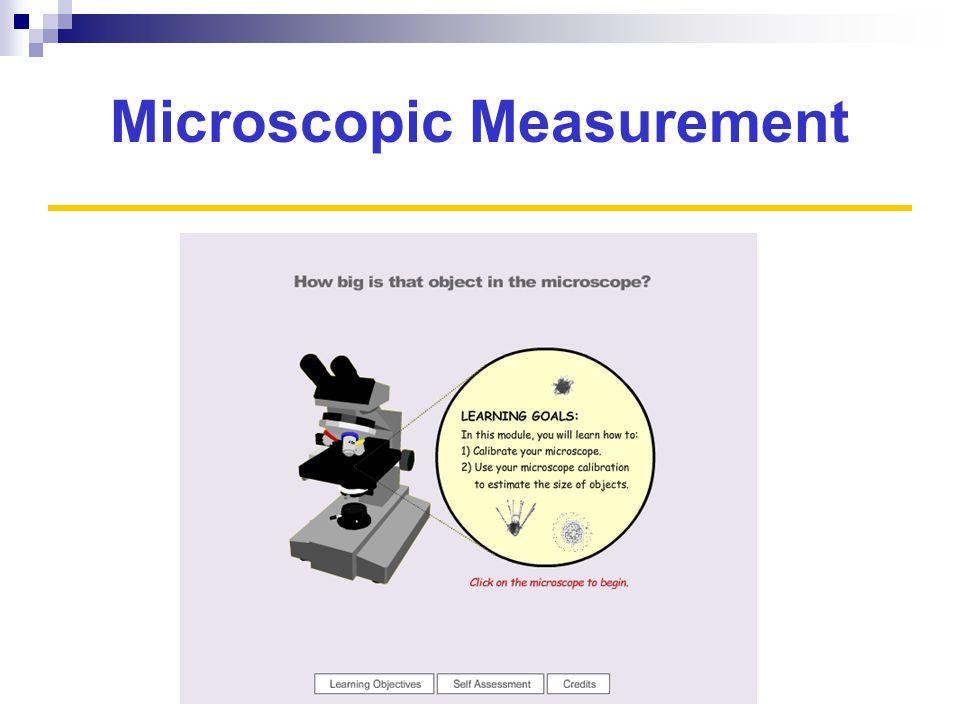 Microscopic Measurement