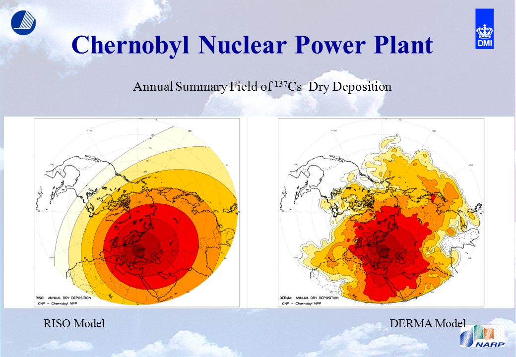 Chernobyl Nuclear Power Plant RISO ModelDERMA Model Annual Summary Field of 137 Cs Dry Deposition