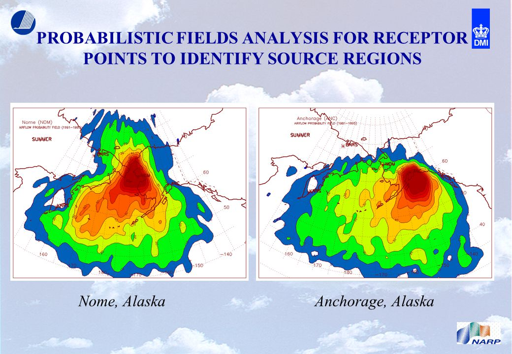 PROBABILISTIC FIELDS ANALYSIS FOR RECEPTOR POINTS TO IDENTIFY SOURCE REGIONS Nome, Alaska Anchorage, Alaska
