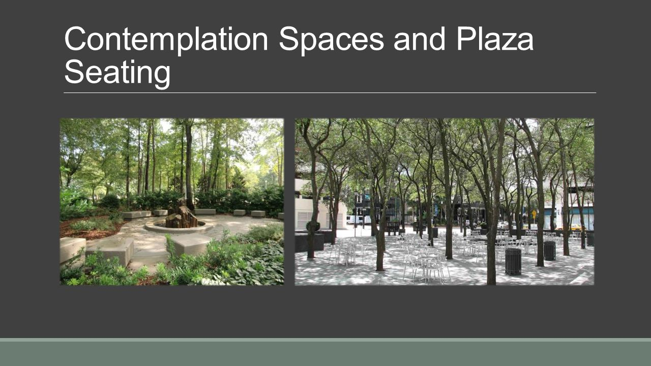 Contemplation space as seen while seated