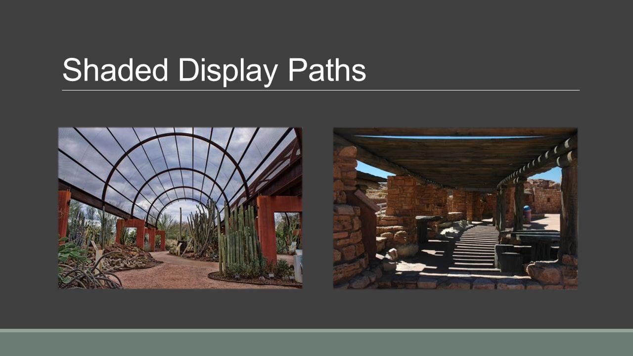 Display path looking back toward plaza