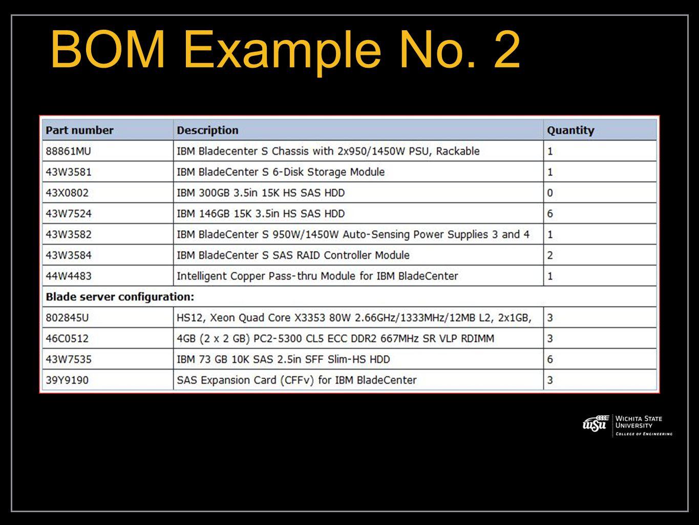 BOM Example No. 2