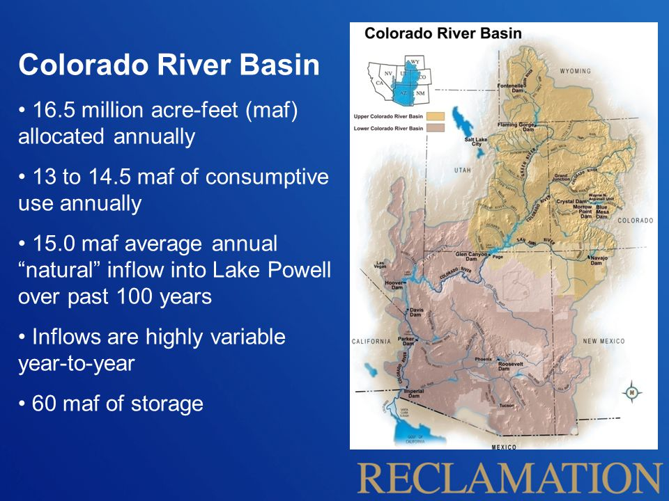 Measures that indicate the ability of the system to meet the needs of Basin resources Will be used to quantify the impacts to Basin resources from future supply and demand imbalances Metrics Resource Categories  Water Deliveries  Electrical Power Resources  Water Quality  Flood Control  Recreational Resources  Ecological Resources System Reliability Metrics (Metrics)