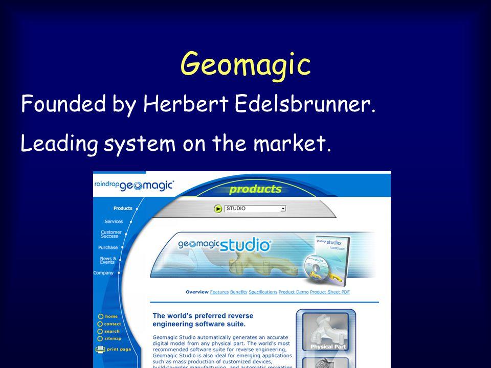 Geomagic Founded by Herbert Edelsbrunner. Leading system on the market.