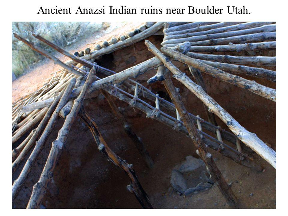 Ancient Anazsi Indian ruins near Boulder Utah.