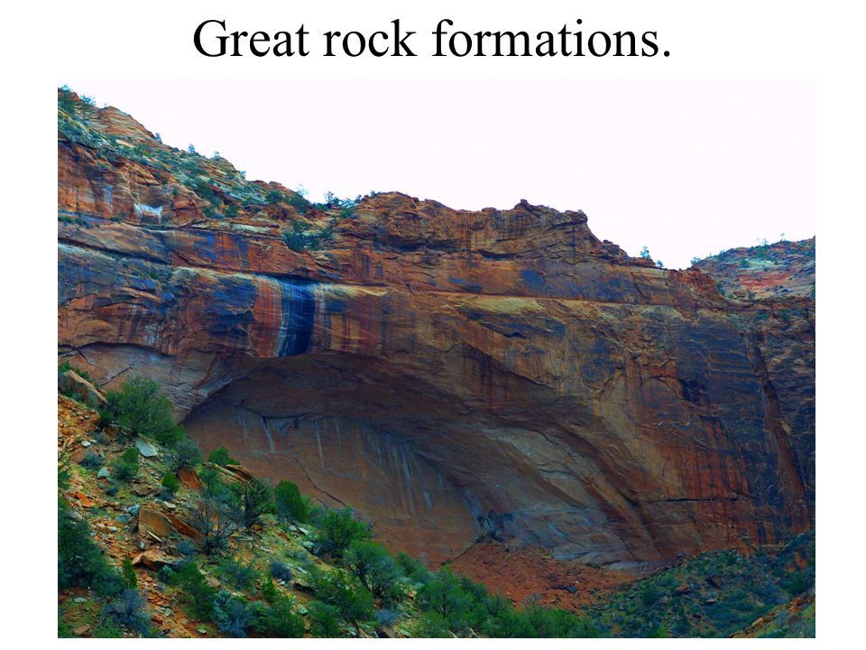 Great rock formations.