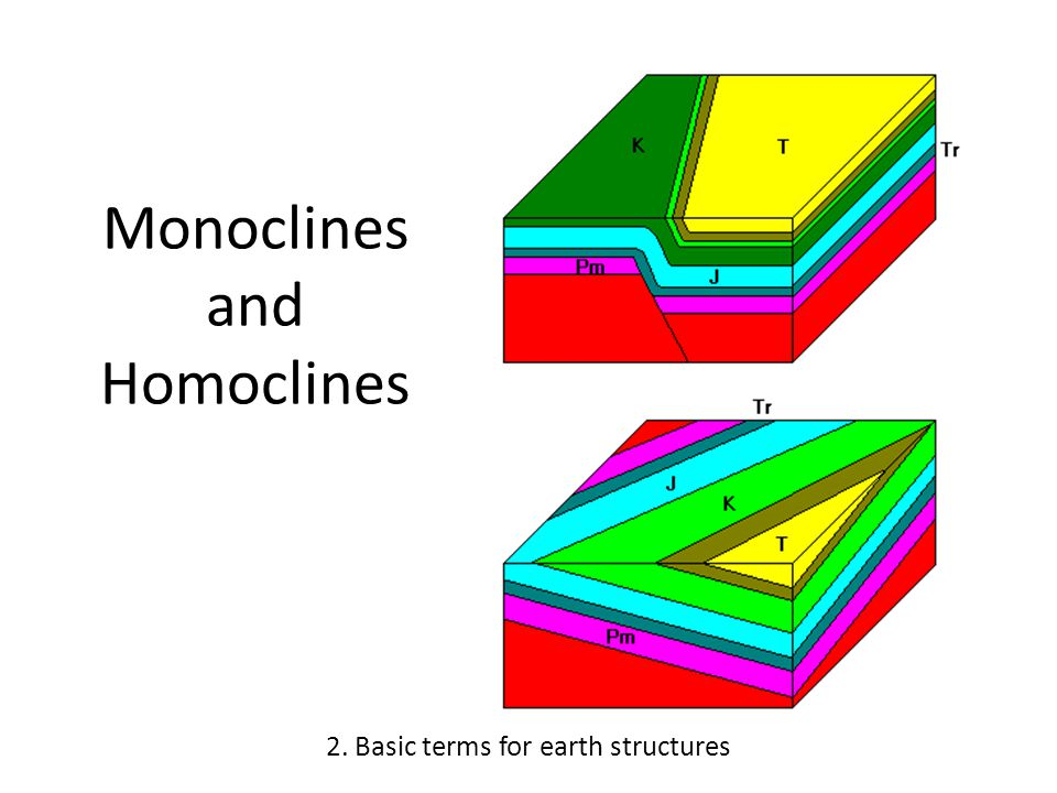 Monoclines and Homoclines 2. Basic terms for earth structures