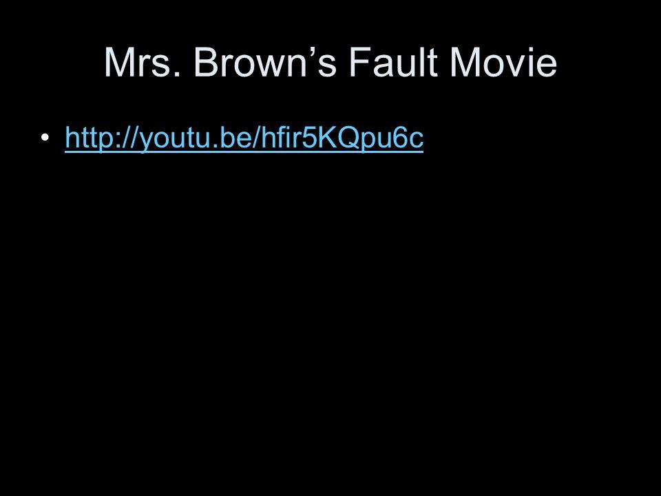 Mrs. Brown's Fault Movie http://youtu.be/hfir5KQpu6c