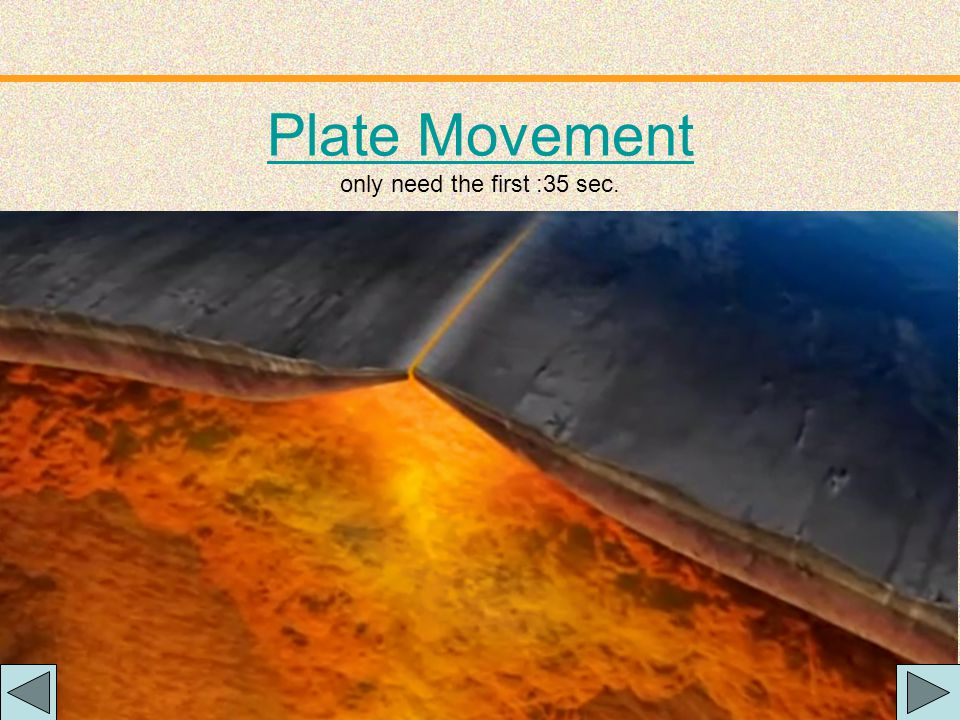 """Plate Movement """"Plates"""" of lithosphere are moved around by the underlying hot mantle convection cells"""