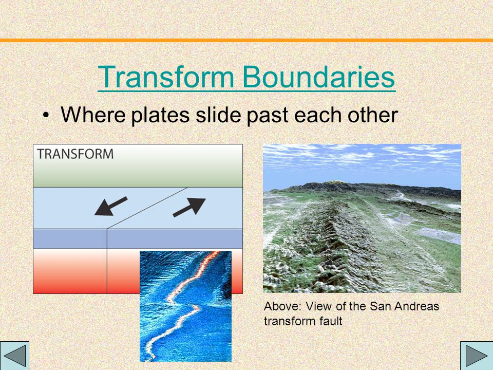 The subducting plate is bent downward to form a very deep depression in the ocean floor called a trench.
