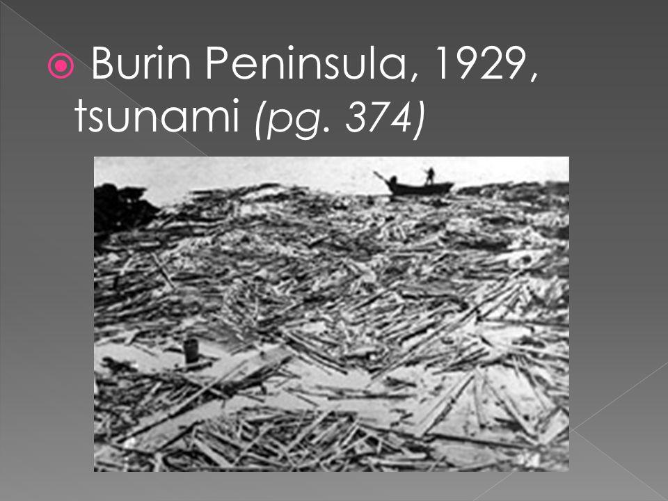  Burin Peninsula, 1929, tsunami (pg. 374)