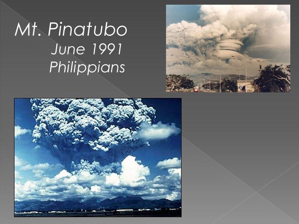 Mt. Pinatubo June 1991 Philippians