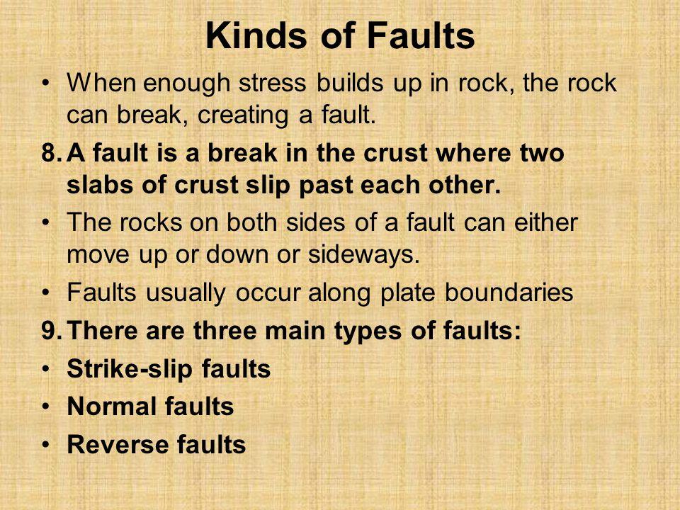 Strike-Slip Faults 10.Shearing creates strike-slip faults.