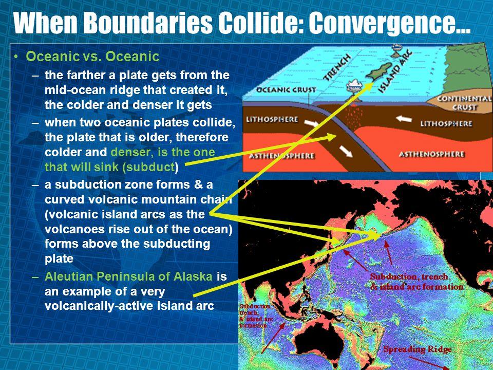 When Boundaries Collide: Convergence… Oceanic vs.
