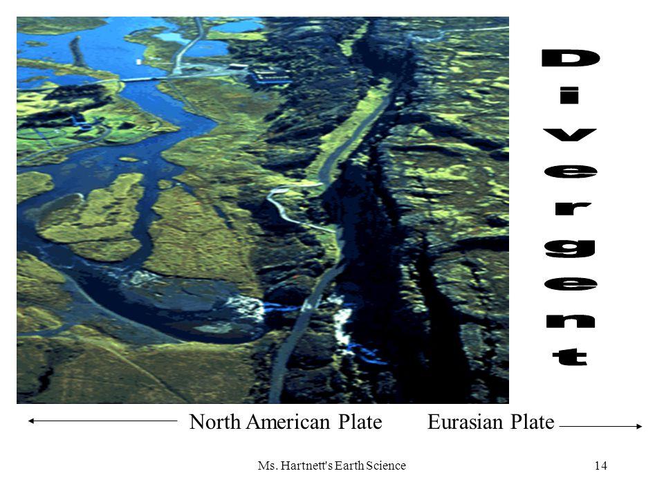 Ms. Hartnett s Earth Science14 North American PlateEurasian Plate