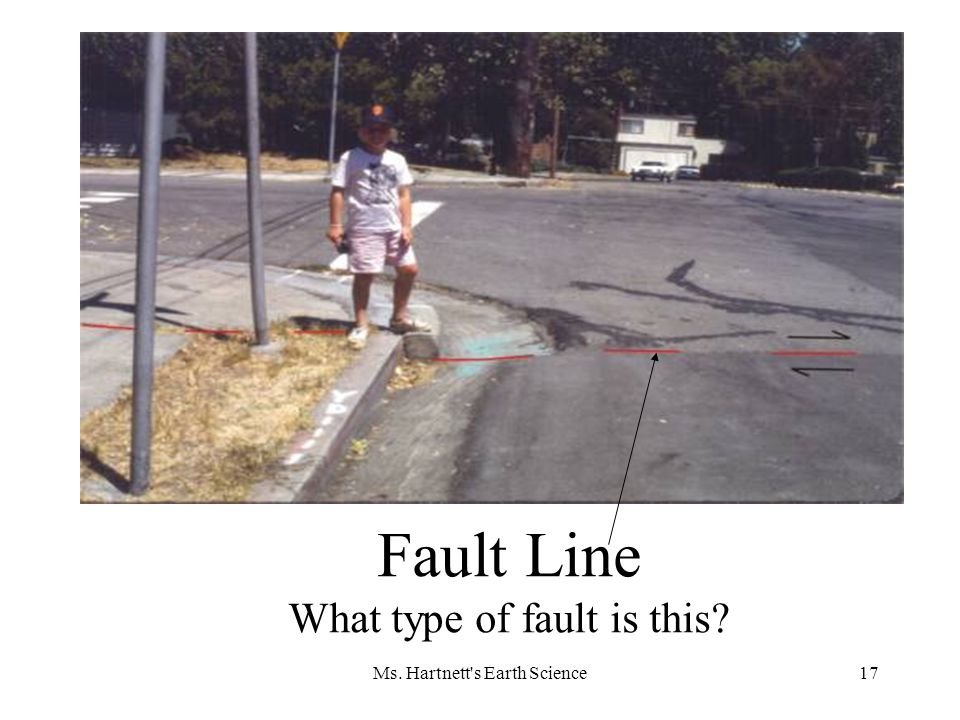 Ms. Hartnett s Earth Science17 Fault Line What type of fault is this