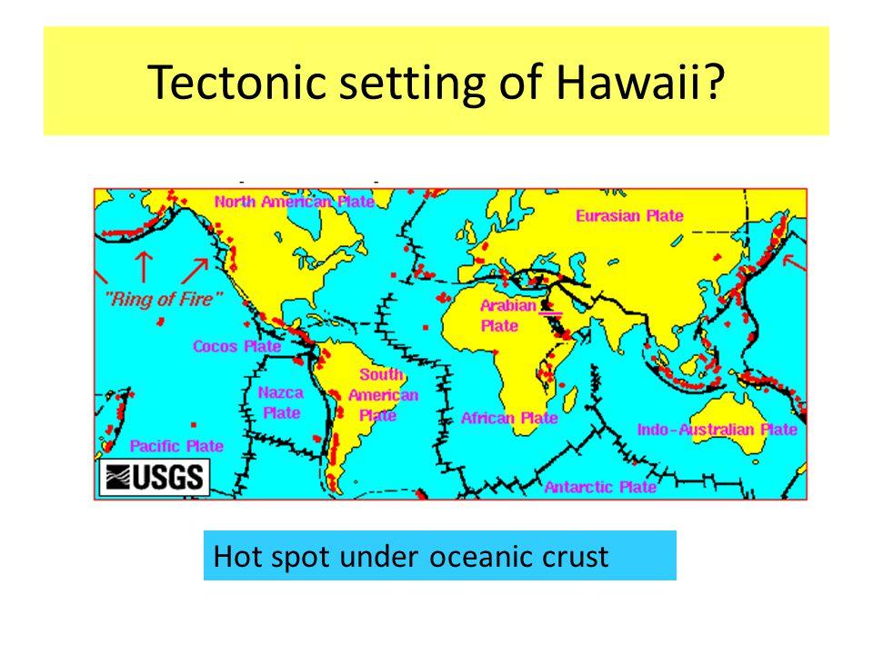 Tectonic setting of Hawaii Hot spot under oceanic crust