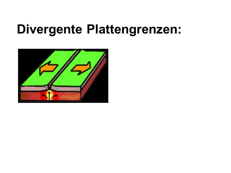 Divergente Plattengrenzen: