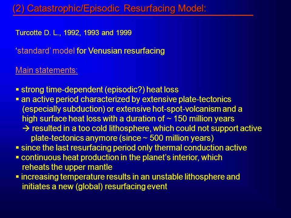 (2) Catastrophic/Episodic Resurfacing Model: Turcotte D.